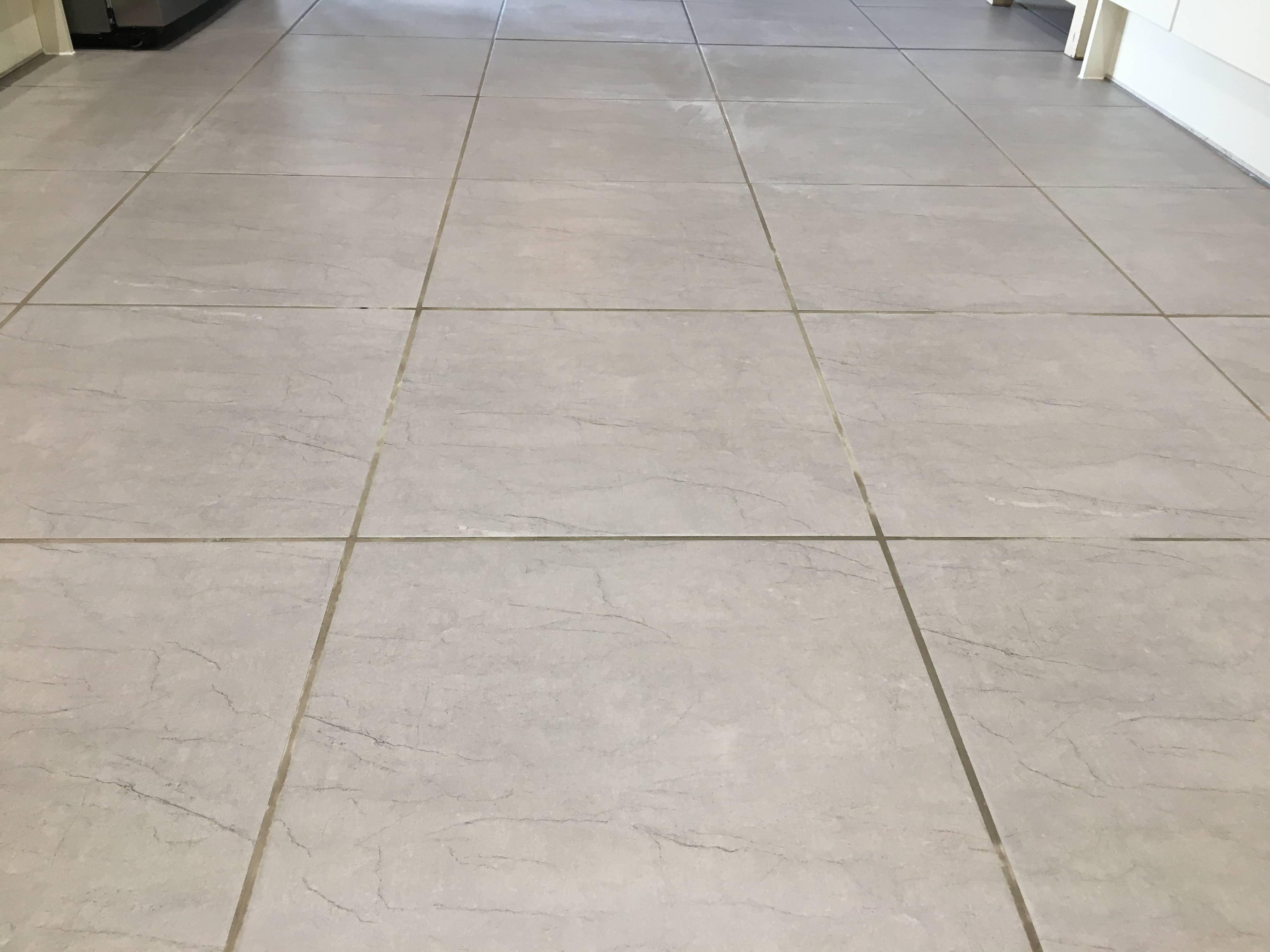 Ceramic Tiled Floor Before Grout Colouring Shrewsbury